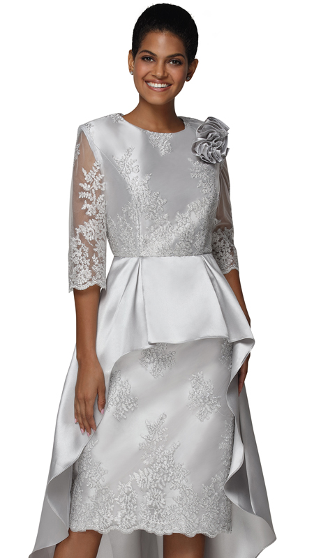 Nina Nischelle 2916 ( 1pc Lace And Silk First Lady Dress )
