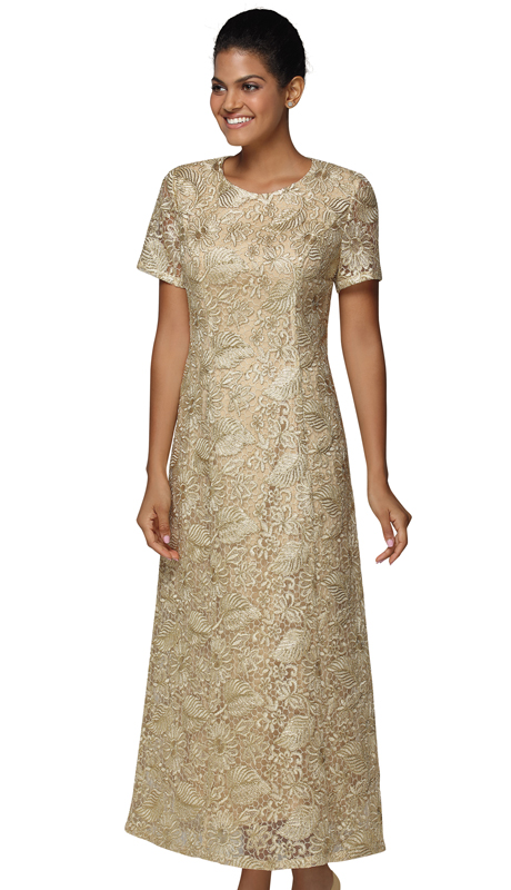 Nina Nischelle 2918-GO ( 1pc Lace Special Occasion Dress )