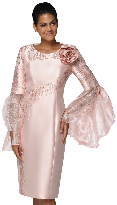 Nina Nischelle 2939-PI ( 1pc Silk Womans Church Dress )