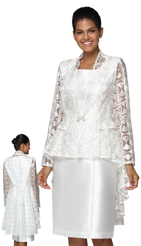 Nina Nischelle 2928-IV ( 2pc Lace And Silk First Lady Dress And Jacket )