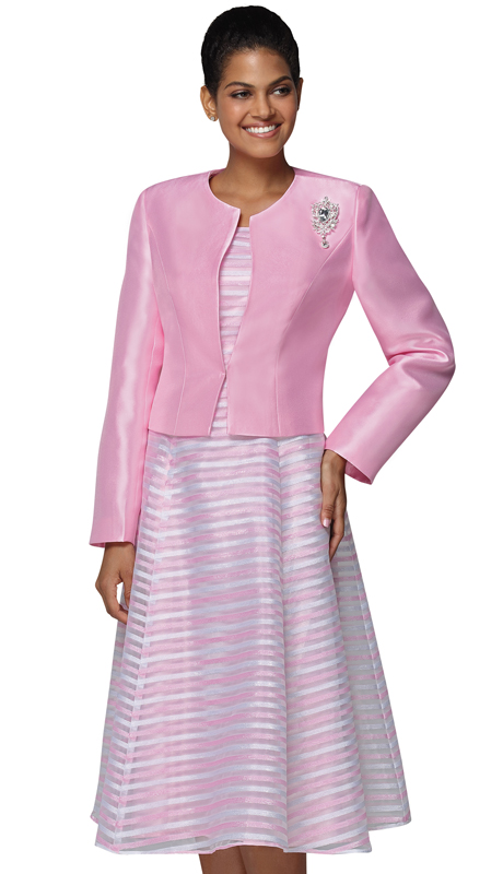 Nina Nischelle 2919-PI ( 2pc Silk Womans Church Dress And Jacket )