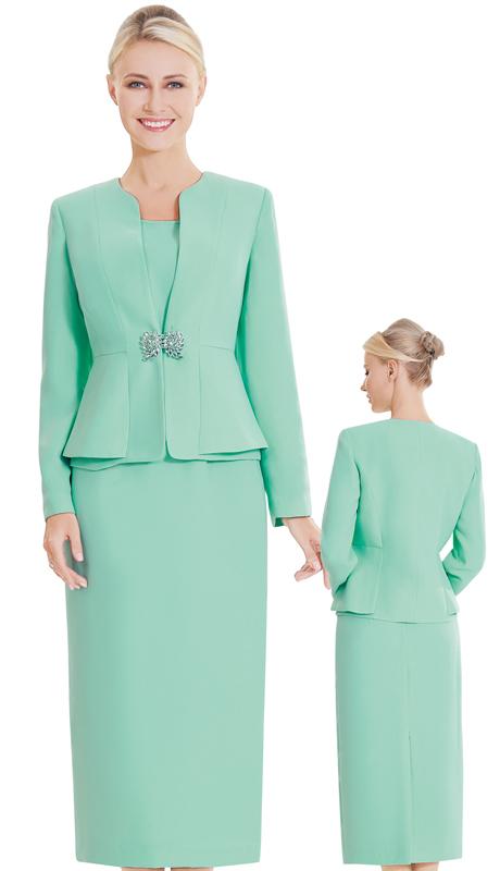 Nina Massini 2394-SA ( 3pc PeachSkin Ladies Sunday Suit )