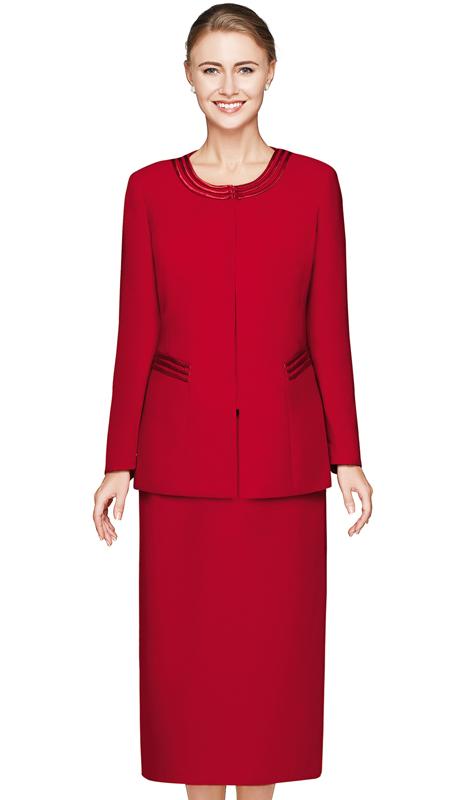 Nina Massini 2317-RE ( 3pc PeachSkin Sunday Suit )