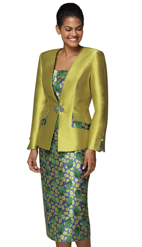 Nina Massini 3025-PI ( 3pc Silk Sunday Suit )