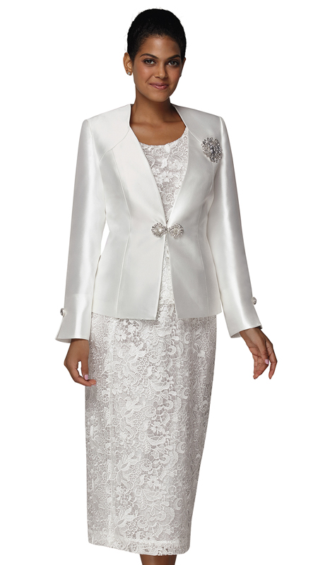 Nina Massini 3024 ( 3pc Lace And Silk First Lady Suit )