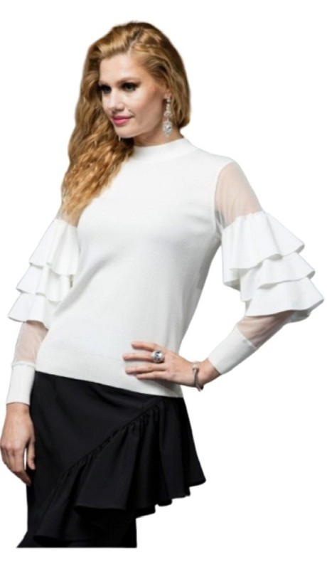Why Dress T170430 ( 1pc Tier Sleeve Knit Top )