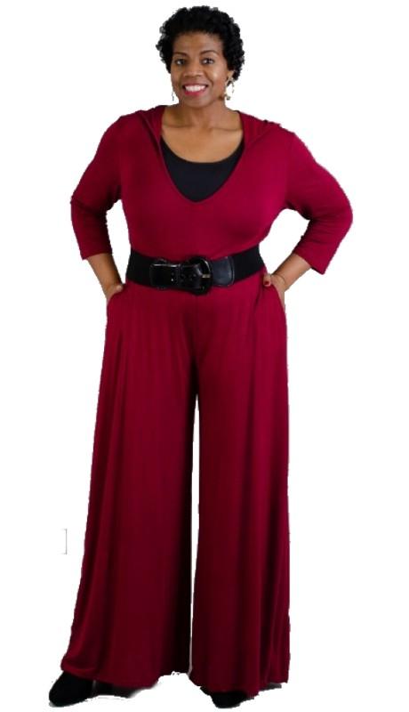 NF CHH18026 Three-Quarter Sleeve Hoodie Jumpsuit
