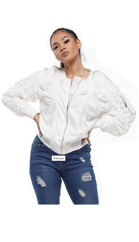 Why Dress J180391 ( 1pc  Shirring Jacket )
