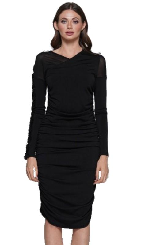 Why Dress D180864 ( 1pc V-Neck Long Sleeve Dress )