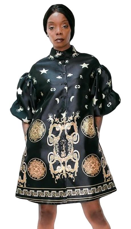 N by Nancy A1827D ( 1pc Print Dress )