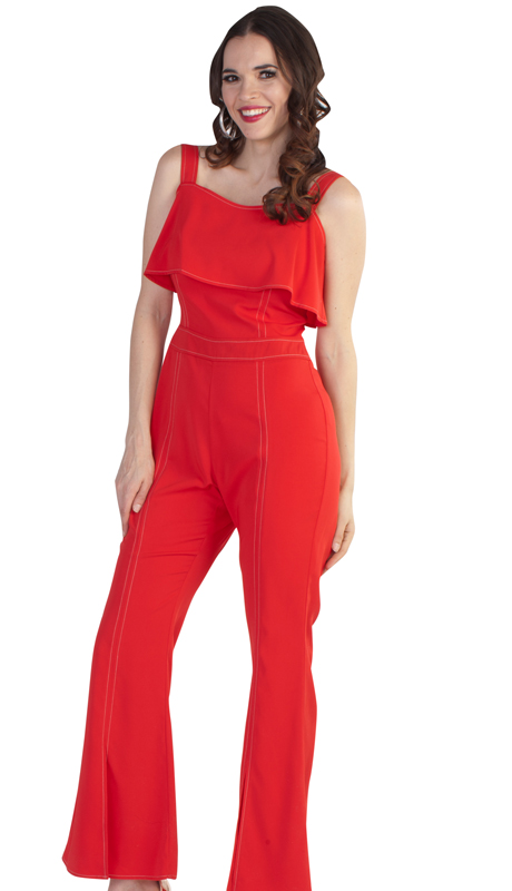 NYC Concepts 8762-RE ( 1pc Jumpsuit )