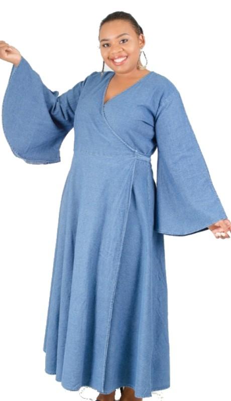 NF 8003 (1pc Bell Sleeve Dress )