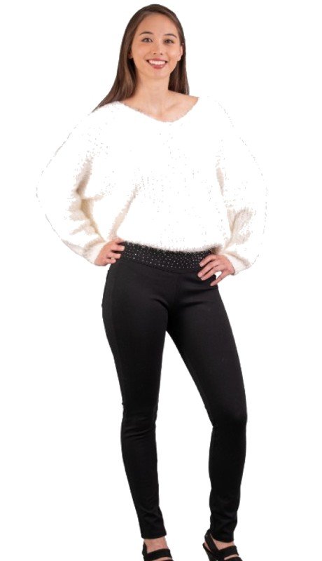 Elissia LCK1 ( 1pc  Embellished Waist Legging )