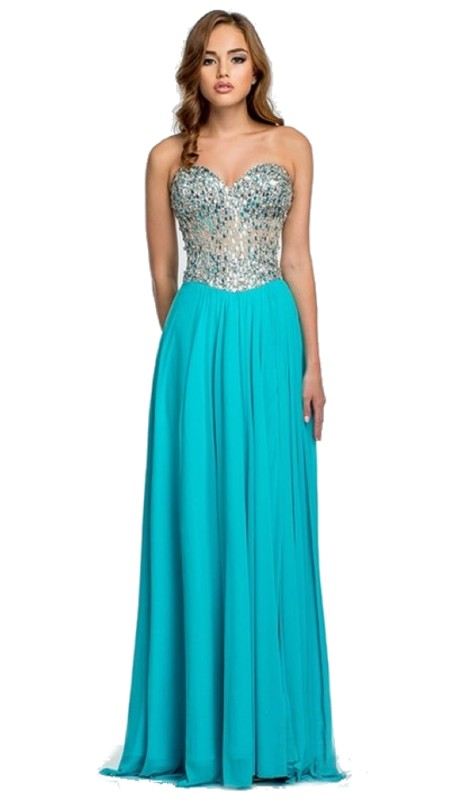 Terani Prom 151P0036A ( 1pc Chiffon Beaded Top )