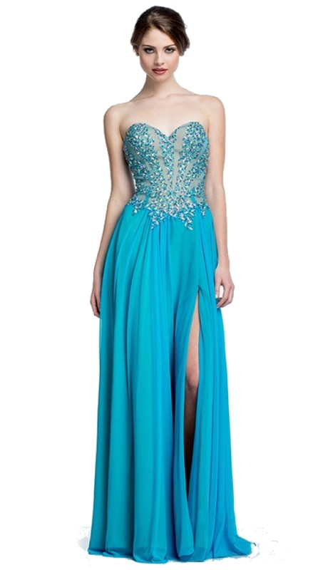 Terani Prom 151P0037A ( 2pc Chiffon Beaded Top )