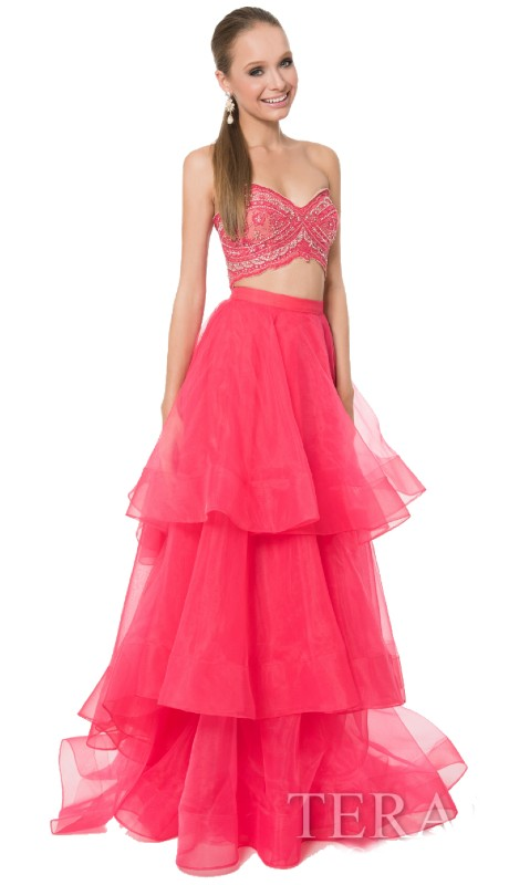 Terani Prom 1611P1017 ( 2pc Beaded Organza Tier )