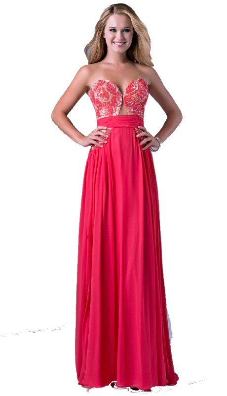 Nina Canacci Prom 1071 ( 1pc Seq Cut Out Strpls )