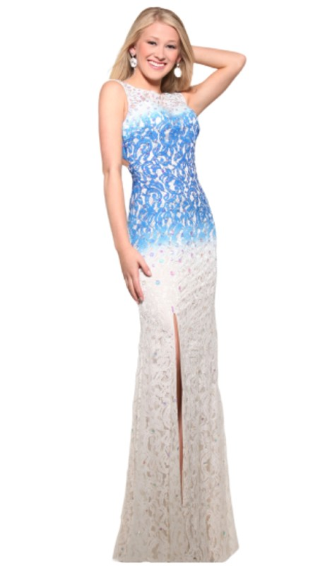 Vienna Prom 1078 ( 2pc Ombre Jewel Lace )