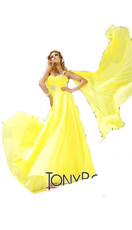 Tony Bowls Prom 11207 ( 1pc Chiffon One Shoulder )