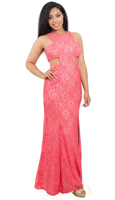 Morgan & Co Prom 12192 ( 1pc Glitter Lace Cut Out )
