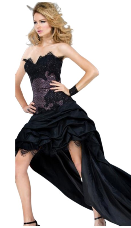 Jovani Prom 1363 ( 1pc Ruch Lace Hilo )