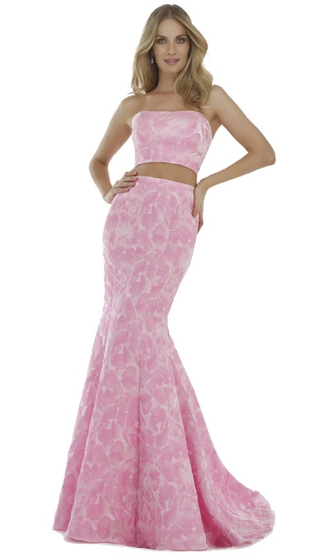 Morrell Maxie Prom 15468 ( 2pc Puff Jacquard Strapless )
