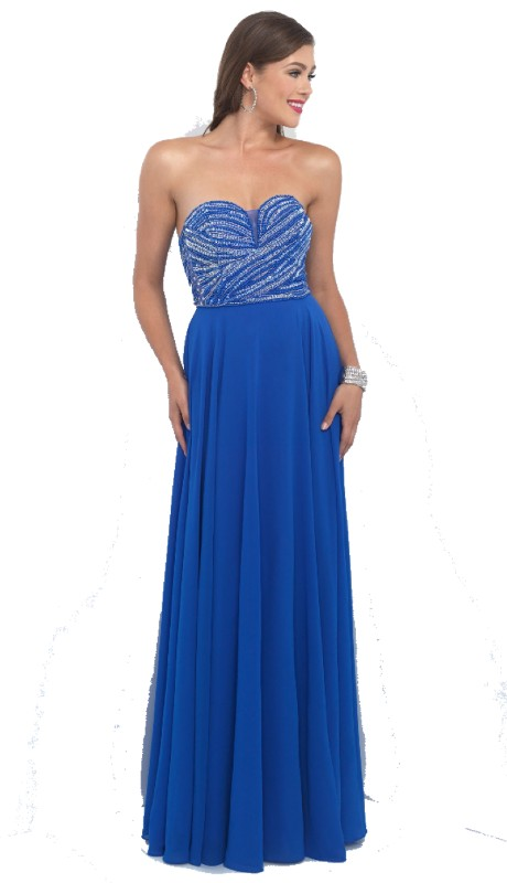Intrigue Prom 166 ( 1pc Beaded Strpls )