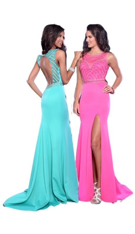 Envious Prom 17015 ( 1pc Front Slit Jersey Bead Bodice )
