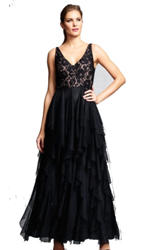 Aidan Mattox Prom MD1E200326 ( 1pc Slvls V Neck )