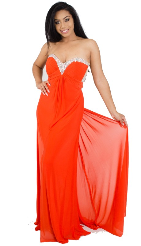 JVN Prom 20570 ( 1pc Beaded V Neck Jersey )