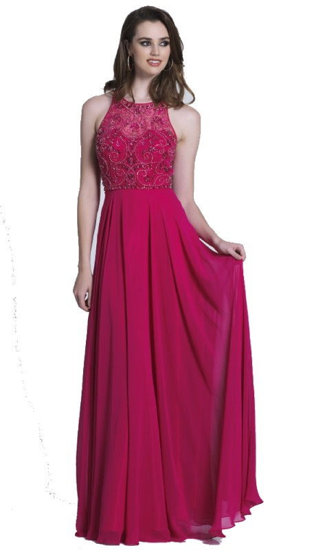Dave & Johnny Prom 3531 ( 1pc Beaded Chiffon Full Skirt )
