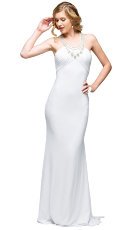 Jadore Prom J4027 ( 1pc Jersey Jewel Neckline )