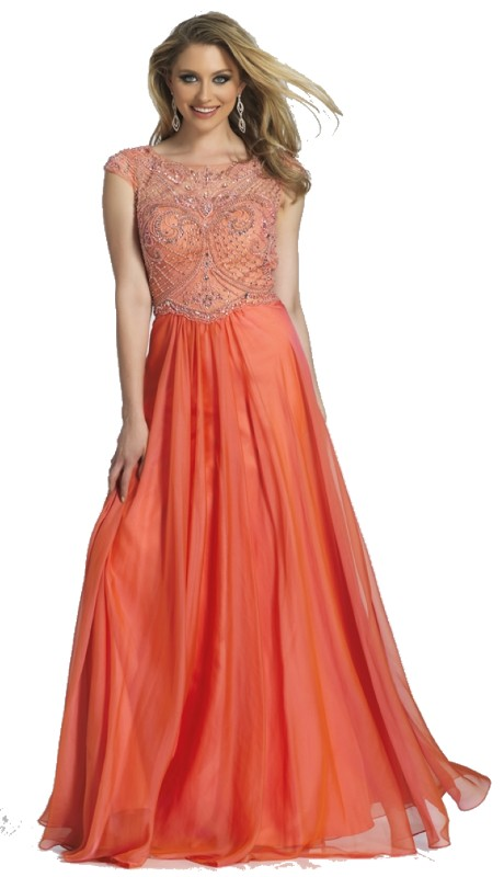 Dave & Johnny Prom A4219 ( 1pc Beaded High Neck )