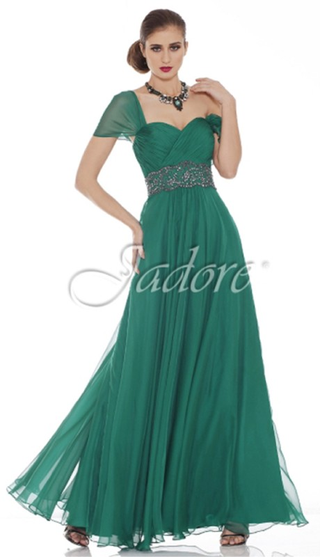 Jadore Prom J6068 ( 1pc Chiffon Off Shoulder Beaded Waist )