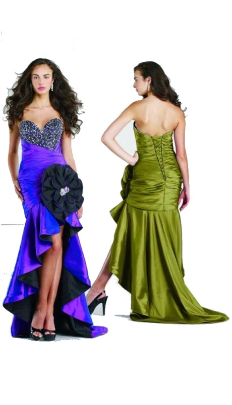 Liz Fields Prom 80015 ( 1pc Taf Hi Lo Lg Flower )