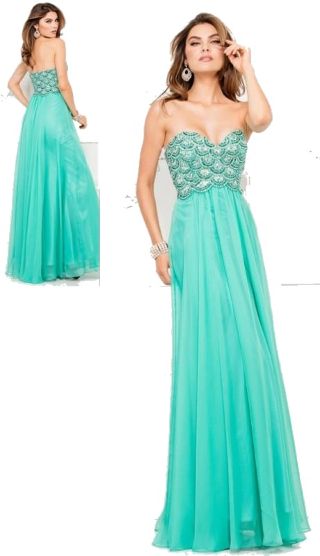 Lucci Lu Prom 8015 ( 1pc Chiffon Beaded Top )