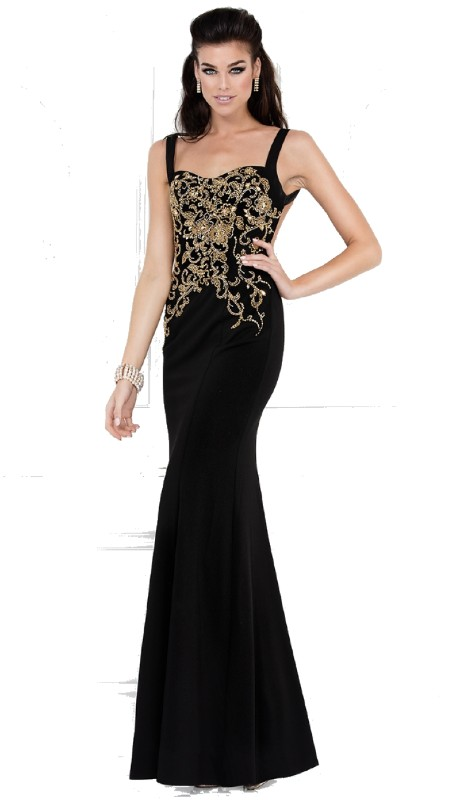 Lucci Lu Prom 8093 ( 1pc  Jersey Gold Emb )