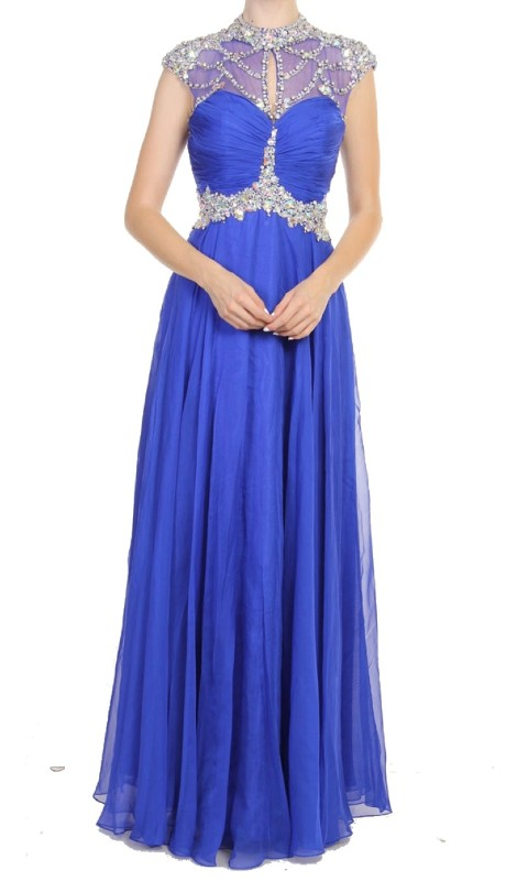Bless Prom 96005 ( 1pc Chiffon Beaded )