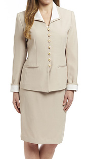 RF Studio 60501 ( 2pc Shantung Career Suit,  Jacket And Skirt )