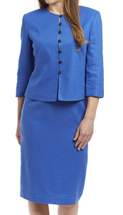 RF Studio 90350-ROY ( 2pc Linen Church And Career Suit With Jacket And Skirt )