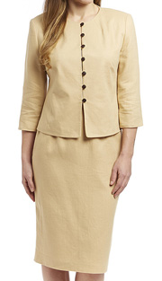 RF Studio 90350-SA ( 2pc Linen Church And Career Suit With Jacket And Skirt )