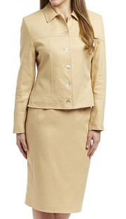 RF Studio 90351-SAN ( 2pc Linen Ladies Church And Career Suit With Jacket And Skirt )