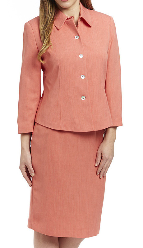 RF Studio 90361-COR ( 2pc Renova Ladies Church And Career Suit With Top And Skirt )