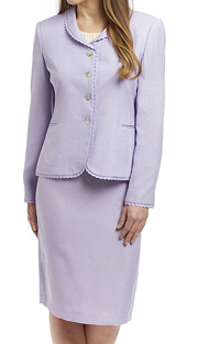 RF Studio 90505-LIL ( 2pc Renova Ladies Church And Career Suit With Ruffle Trim On Jacket With Skirt )