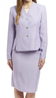 RF Studio 90506 ( 2pc Renova Ladies Church And Career Suit With Ruffle Trim On Jacket With Skirt )