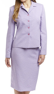 RF Studio 90600-LIL ( 2pc Jaquard With Light Texture, Church And Career Suit With Jacket And Skirt )