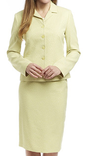 RF Studio 90600-SA ( 2pc Jaquard, Lightly Texture Church And Career Suit With Jacket And Skirt )