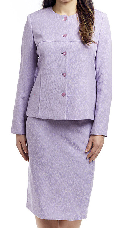 RF Studio 90601-LIL ( 2pc Jacquard Lightly Textured Church And Career Suit With Jacket And Skirt )