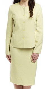 RF Studio 90601-SA ( 2pc Jacquard Lightly Textured Church And Career Suit With Jacket And Skirt )