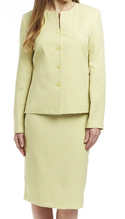 RF Studio 90602-SA ( 2pc Jacquard Ladies Church And Career Suit, Lightly Textured Jacket And Skirt )